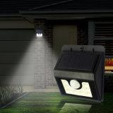 新しい8LED PIRの動きセンサーLEDの太陽壁ランプの庭ライト