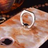 iPhoneのための携帯電話の箱の大理石のリングの立場の水晶堅いケースプラス7 6 4.7