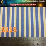 Tela tejida raya teñida pronto de los hilados de polyester de las mercancías para la ropa (S45.115)