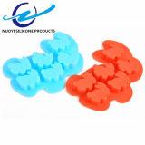Moulage 3D de gâteau de savon de lapin de dessin animé de moulage de silicones de 6 cavités