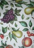 Tablecloth impresso PVC cheio da cor de Oko-Tex 100 com Non-Woven/revestimento protetor de Spunlace