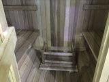 Pièce extérieure de sauna de personne du jardin 4 de forme ronde