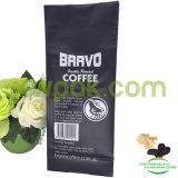 Schwarze flache Unterseiten-Kaffee-Mattbeutel