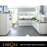 Cucina della lacca di lucentezza del Matt piccola con il portello bianco e Benchtop nero Tivo-0239h