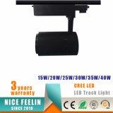 Qualitäts-weißes u. schwarzes LED-Punkt-Spur-Licht 15With20With30With40W