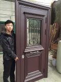 Puerta de aluminio exterior de la seguridad de la puerta del marco