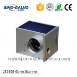Pista de exploración del Galvo del laser del CO2 Js2808 de la velocidad 20m m para la máquina de la marca del laser