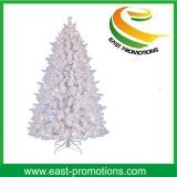 Árvore de Natal artificial branca com decoração do diodo emissor de luz