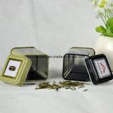 Contenitore impaccante di stagno del piccolo tè quadrato con il fornitore della Cina della vernice del commestibile