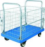 300kg金属の網の棚の網のトラックが付いているプラスチック輸送のトロリー