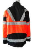 2017 좋은 품질 주황색 사려깊은 폴리에스테 호박단 겨울 재킷 간결 작업복 일 피복 작업복 의복