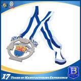 柔らかいエナメルおよびリボンの付属品が付いているカスタムスポーツメダル