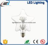 Bombillas LED de luz de vela regulable dimmable LED Nueva lámpara moderna de vidrio manchado E27 LED lámpara pintada artificial