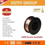 低いはねのガスによって保護される銅の上塗を施してあるソリッドワイヤ(MIG) Aws A5.18 Er70s-6