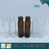 Kosmetische bernsteinfarbige Glasrolle auf Flasche mit Aluminiumschutzkappe