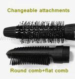 2 en 1 Secador de pelo de cepillo rápido con archivos adjuntos cambiables