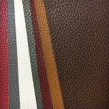 Cuoio profondo dell'unità di elaborazione del grano del litchi per il sofà, sede di automobile, mobilia (HS-D06)