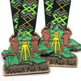 Medalha feita sob encomenda do esporte da concessão do corredor com fita colorida