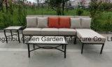 Sofá modular do jardim da mobília do pátio ajustado com tabela cerâmica