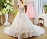 Linha 2017 da V-Garganta vestido de casamento nupcial de cristal Rfl1702