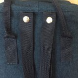 Mode Blauwe Jean Denim Rugzak Tas Met Tote Handle