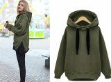Suéter caliente grueso Hoodies de la chaqueta ocasional de las mujeres del invierno del otoño