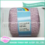 La fibra naturale tinta sana del filato per maglieria del bambino di colore fresco ha pettinato il filo 100% di cotone