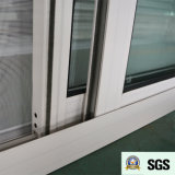 Ventana de desplazamiento de aluminio revestida del polvo blanco del color K01063