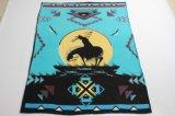 Couverture d'ouatine estampée par polyester 100% avec le modèle indigène