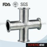 ステンレス鋼のJonengの衛生等級によって締め金で止められる十字の管付属品(JN-FT3003)