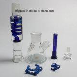 새로운 Hookah Shisha 12는 7mm Illadelph 파란 배관에 Milli 칩을%s 가진 연기가 나는 유리제 수관 붕규산염을 조금씩 움직인다