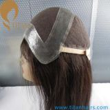 парик шнурка тонкой кожи человеческих волос девственницы 12inch полный для женщин