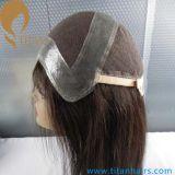 Mejor humano de la Virgen del pelo del cordón de la peluca francesa personalizado para la Mujer