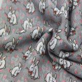 Sciarpa del coniglio di stampa del poliestere per l'accessorio della signora modo, scialle del reticolo del coniglio