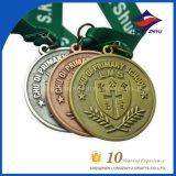 리본을%s 가진 배구 메달 앙티크 금 은 구리 스포츠 메달