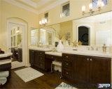 O gabinete de banheiro personalizado o mais novo do estilo do abanador da madeira contínua