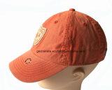 100%Cotton前面パネル(LY047)のアプリケーションEmbの方法によって洗浄される野球帽