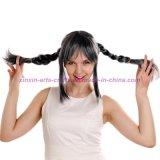Peruca sintética resistente ao calor do cabelo com as tranças para o partido e o Cosplay