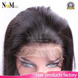 Fabrik-Zubehör-brasilianisches Jungfrau-Menschenhaar 22.5 x Silk gerade Stirnbein 360 Spitze-4 x 2