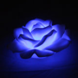 Cute Floating Artificial Battery Operated Plastic LED Peony Flowers for Christmas