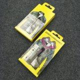 Надежные наушники застежки -молнии металла в-Уха Headpone с Mic 3.5mm Jack