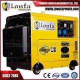 100 generador diesel silencioso de cobre del por ciento 7.5kw 7.5kVA
