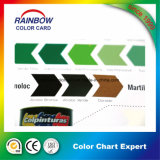 Carte de couleur de peinture d'impression pliée personnalisée de haute qualité
