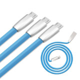 Cable de carga de los tallarines del relámpago de los datos planos del USB