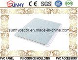 Glatter Drucken-Marmor konzipiert Belüftung-Deckenverkleidung Belüftung-Panel für Wände Cielo Raso De PVC