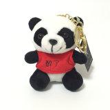 중국 연약한 견면 벨벳에 의하여 귀여운 판다 세륨 주문 Keychain 채워지는 장난감