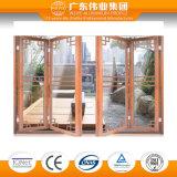Дверь складчатости горячего сбывания Супер-Дома алюминиевая стеклянная с 24 летами гарантированности