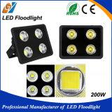 Indicatore luminoso di inondazione stretto impermeabile esterno di angolo 200W LED del fagiolo di buona qualità
