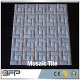 Mosaico de pedra natural da arte do mármore/Travertine para a telha de assoalho do banheiro/cozinha