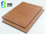 Панель стены PVC панели деревянной панели панели зерна деревянной Coated алюминиевой пластичной составной деревянная
